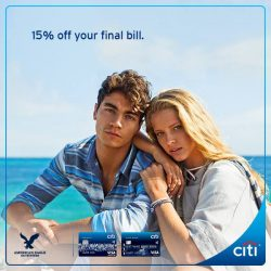 Citibank: Enjoy additional 15% off final bill at American Eagle Outfitters