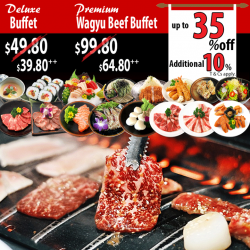 Tenkaichi: Premium wagyu beef buffet at an additional 10% off for Citibank Cards