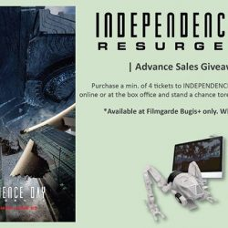 Filmgarde Cineplex: Purchase a min of 4 tickets to INDEPENDENCE DAY: RESURGENCE and Get 1 Mini Moon Tug