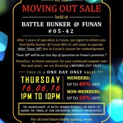 Battle Bunker: Moving Out Sale