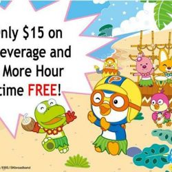 Pororo Park: Get additional hour of FREE playtime with every $15 worth of food and beverage spent at Loopy's Cafe