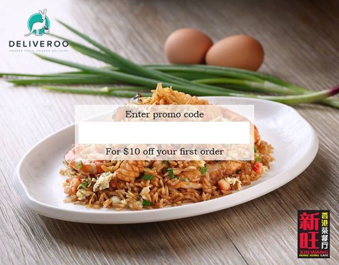 Deliveroo: Coupon Code for $10 OFF Your First Xin Wang Hong Kong Cafe Order