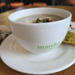 Marché Mövenpick: enjoy a FREE soup of the day with every pizza ordered!