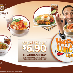 OLDTOWN White Coffee Singapore: Happy Lunch Savers Set Meals at $6.90 on Weekdays