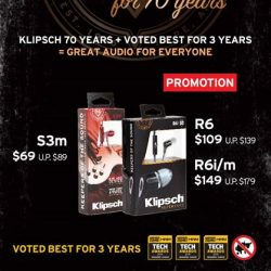 Newstead Technologies: Klipsch 70th Anniversary Promotions, assorted earphones now up $30 off!
