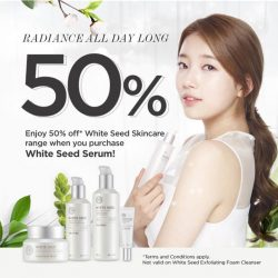 THE FACE SHOP: Enjoy 50% off our White Seed Brightening Range
