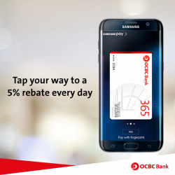 OCBC: 5% rebate when you pay with OCBC Cards using Samsung Pay