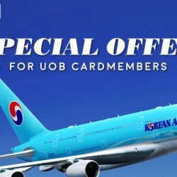 UOB: Coupon Codes for 15% OFF Business Class and 10% off Economy Class with Korean Air