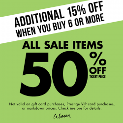 La Senza: All sale items are now at 50% off!