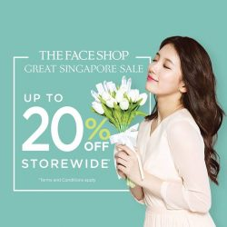 THE FACE SHOP: Enjoy up to 20% off store-wide!
