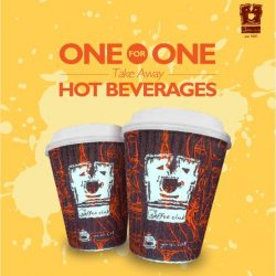 O' Coffee Club: 1-for-1 hot beverage for take-away