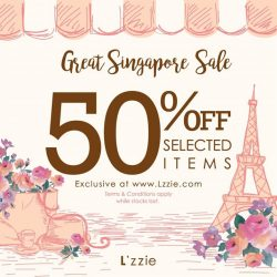 L'zzie: Great Singapore Sale 50% OFF Selected Items