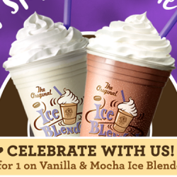 The Coffee Bean & Tea Leaf®: 1-for-1 Mocha and Vanilla Ice Blended drink at Marina Cove Outlet