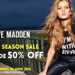 Steve Madden: Storewide 50% off at all major Steve Madden stores!