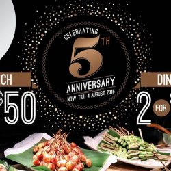 Buffet Town: 5th Anniversary Promotion Up to 20% OFF Weekday Buffet