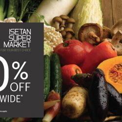 Isetan: 10% off storewide for 2 days at Isetan Supermarket