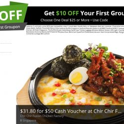 Groupon: Coupon Code for $10 OFF Your First Purchase