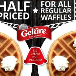 Gelare: Half-Priced Waffles on Weekdays till 5pm