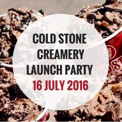 Cold Stone Creamery: Public Launch Party at Orchard Central