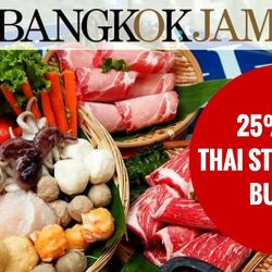 OCBC: 25% off Bangkok Jam's Thai Steamboat Buffet from Mondays to Thursdays