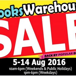 SG Book Deals: Books Warehouse Sale with Prices from $1 & $50 Box Sale