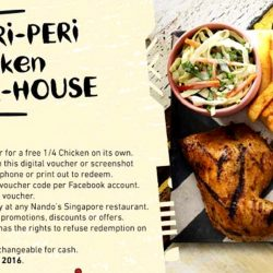Nando's: Redeem your FREE ¼ PERi-PERi Chicken NOW