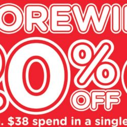 Watsons: 20% OFF Storewide for Members with Min. $38 Spend