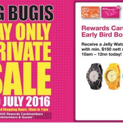 BHG Bugis: One Day Private Sale for BHG Rewards & NETS Cardmembers