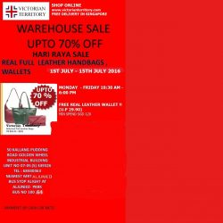 VICTORIAN TERRITORY - REAL LEATHER GOODS WAREHOUSE SALE