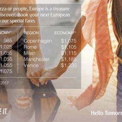 Emirates: Special Fares to Europe from $985