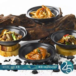 Crystal Jade: Enjoy 25% off from a wide selection of claypot dishes for Jadeite Members
