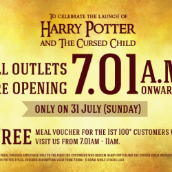 Popular: Grab your copy of Harry Potter and the Cursed Child Book on 31 July at 7.01am & Get a Free Meal Voucher!