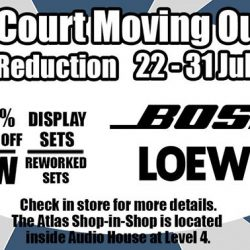 BOSE: Liang Court Moving Out Sale Up to 90% OFF Bose & Loewe Products
