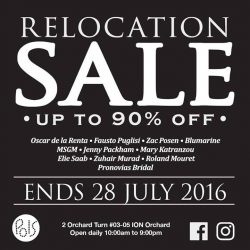 Pois Boutique: Relocation Sale Up to 90% OFF Your Favourite Designer Labels
