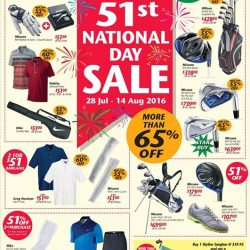 Golf House: 51st National Day Sale with more than 65% OFF