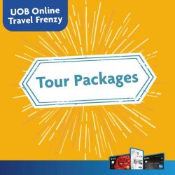 UOB: Online Travel Frenzy Up to 75% off hotels worldwide and up to 15% off airfares