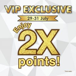 Bossini: Double Points for VIP Members this Weekend