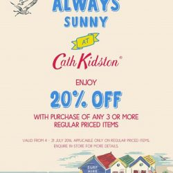 Cath Kidston: 20% OFF with any purchase of 3 items & more