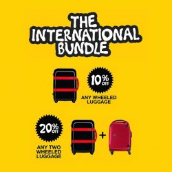 Crumpler: 10% off all wheeled luggage & 20% off for 2 wheeled luggage
