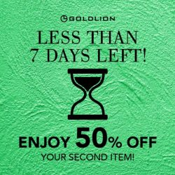 Goldlion: Enjoy 50% OFF Second Item at GSS Sale Finale