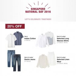 MUJI: Enjoy selected men's and ladies' garments at 20% off