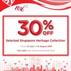 ARCH: Selected Singapore Heritage framed art piece @ 30% Off