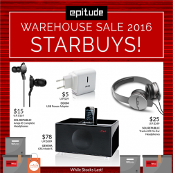 EpiLife: Star buys up to 90% off at Warehouse Sale