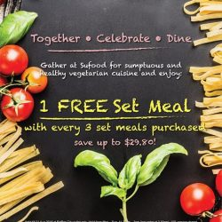 Sufood: 1 FREE Set Meal with every 3 Set Meals purchased