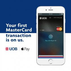 UOB: Use MasterCard with Apple Pay & First MasterCard Transaction up to $10 FREE