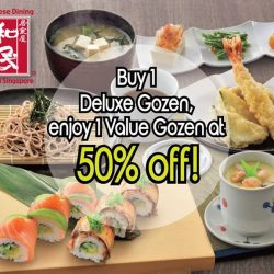 Watami: Buy 1 Deluxe Gozen Set and enjoy 1 Value Gozen Set at 50% off