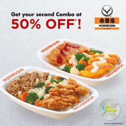Yoshinoya: Enjoy a second Combo at 50% off with purchase of à la carte Combo at Bugis Junction