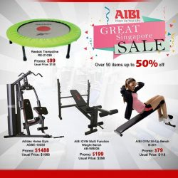 AIBI: Great Singapore sale Over 50 items on sale up to 50%