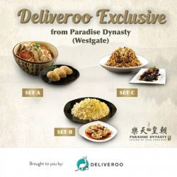 Paradise Group: 3 promotional sets exclusive to Paradise Dynasty's Westgate outlet on Deliveroo
