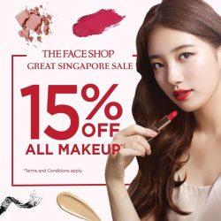 The Face Shop: Enjoy 15% OFF Makeup Products this week